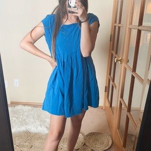 Free People Cotton Blue Dress